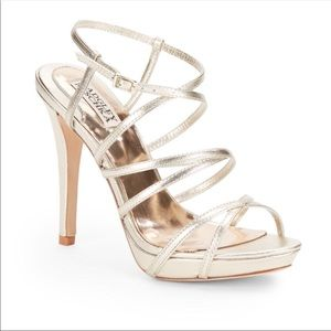 Strappy Badgley Mischka heels